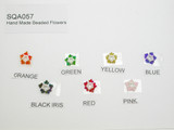 Small Glass Seed Bead Star Accent Appliques *Colors*  10 Pack