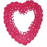 Venise Lace Applique Heart Frame Rose