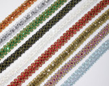 """Sequin Braid 7/8"""" (23mm) Lots Of Colors -  Priced Per Yard"""