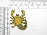 "Zodiac Scorpio Applique Embroidered iron On Patch 2 1/8"" x 1 3/4"""