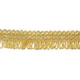 "Fringe 1"" Fancy Looped Old Gold Per Yard"