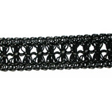 "Pleather Braid 1 3/8"" Black Per Yard"