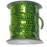 Sequin Schlung 6mm Lime 50 Yard Roll