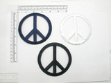 "Peace Sign 4"" high Embroidered Iron On Patch Applique Fully Embroidered  Measures 4"" high x 4"" wide"
