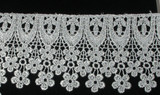 """Venise Lace 3 1/2"""" (89mm) Metallic Silver Priced Per Yard"""