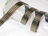 "Foil Chevron Grosgrain Ribbon 7/8"" Black & Gold"