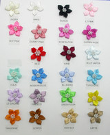 "Polyester Satin Ribbon Beaded Flowers 1 1/4""  10 Pack *Colors*"