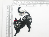Black Cat Patch Ring Tail