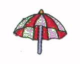 Umbrella Red & Sparkle White