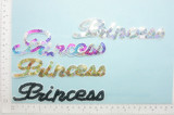 Sequin Word PRINCESS Iron On Patch Applique