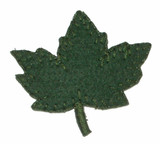 Maple Leaf Felt Green