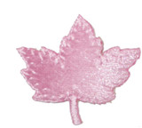 Maple Leaf Velveteen Pink