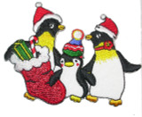 Iron On Patch Applique - Christmas Penguin Group