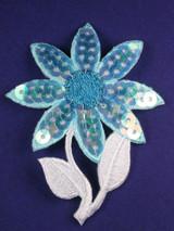 Sequin Flower Blue