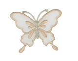 "Butterfly 2 1/4"" Sheer Wing  Peach"