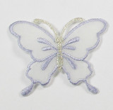 "Butterfly 2 1/4"" Sheer Wing Lavender"