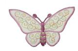 """Butterfly 3"""" Sheer Plum"""