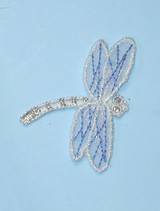 Dragonfly Sheer Blue & Silver