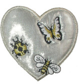 Silver Heart with Insects