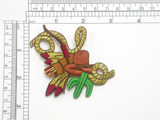 Cowboy Hat Lasso & Cactus Patch Embroidered Iron On Applique