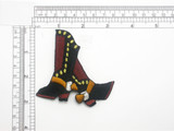 Cowboy Boots Patch Iron On Embroidered Applique