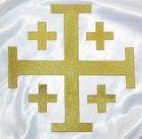 "Jerusalem 5 Part Cross 10"" Metallic Gold"