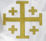 "Jerusalem 5 Part Cross 5""  Metallic Gold"