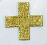 "Jerusalem 1 1/8"" Corner Cross Metallic Gold"
