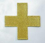"Jerusalem 2 1/4"" Corner Cross Metallic Gold"