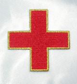 "Jerusalem 2 1/4"" Corner Cross Red with Gold Border"