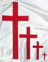 "Plain Cross 2"" Tall Red"