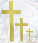 "Plain Cross 2"" Tall Metallic Gold"