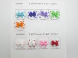 Satin Ribbon Double Bows Polka Dots 10 Pack *Colors*