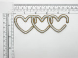 Heart Patch Chain Link Embroidered Iron On Applique