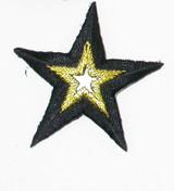 "Mirror Star 1 7/8"" Black & Met Gold"