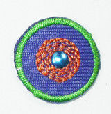 """Dot 3/4"""" Round with Stud Blue"""