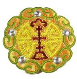 Opalescent Decorative Patch Olive
