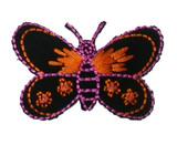 """Butterfly 2 3/8"""" Black & Orange"""