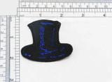 Black Top Hat Applique