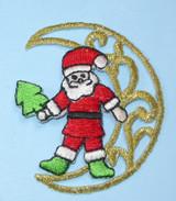 Santa on Crescent Moon