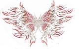 Rhinestud Applique - Fire Butterfly