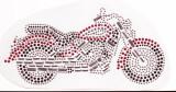 Rhinestud Applique - Motor Cycle