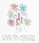 Rhinestud Applique -  Live To Cheer