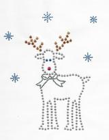 Rhinestud Applique - Reindeer.