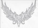 Rhinestud Applique - Heart in Wings
