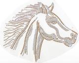 Rhinestud Applique - Horse Head