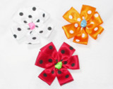 "Ribbon Rose 2 3/4"" Polka Dot - Color Options"