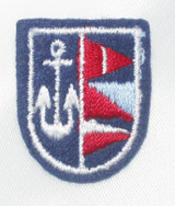 Nautical Crest Anchor & Flags - Iron On Patch Applique