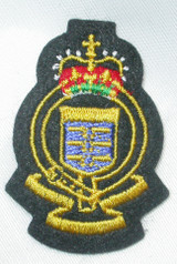 Crest with Blue Flag