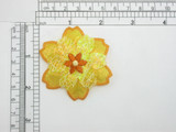 Yellow Primrose Patch Embroidered Iron On Patch Applique